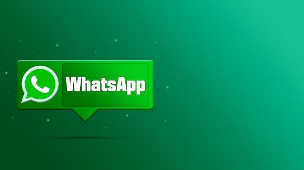 Whatsapp-logo op tekstballon 3d