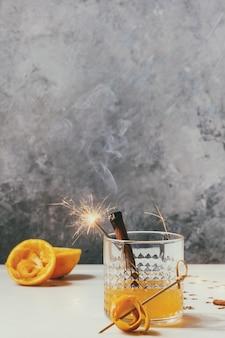 Whisky oranje cocktail
