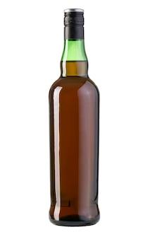 Whiskyfles geïsoleerd op wit met uitknippad