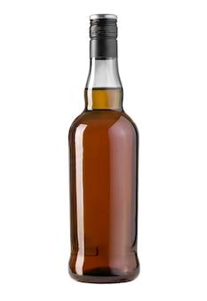 Whiskyfles geïsoleerd op witte achtergrond