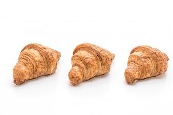 Wholewheat croissant op witte achtergrond