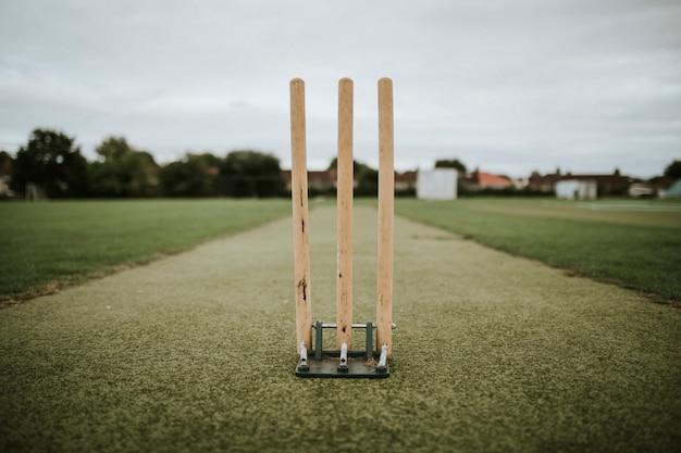 Wicket op een cricketveld