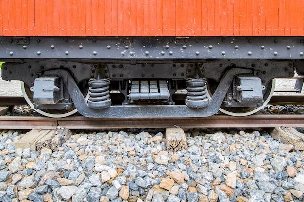 Wiel van oude trein