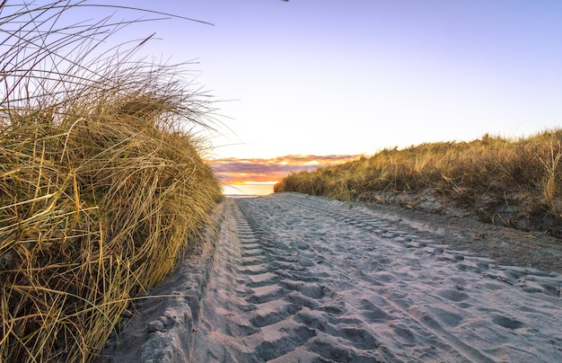 Wielsporen op zandweg, lista noorwegen.
