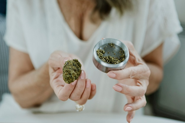 Wiet en een opslag van cannabis