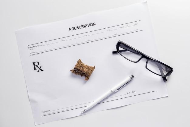 Wiet-marihuana hasj receptpapier