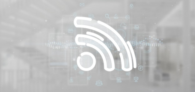 Wifi-pictogram met overal gegevens