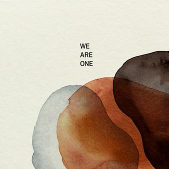 Wij zijn een social media-post van een campagne met een zwarte levenskwestie