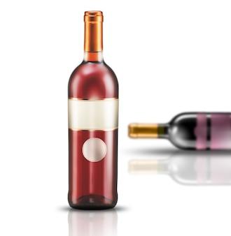 Wijnfles etiketten sjabloon