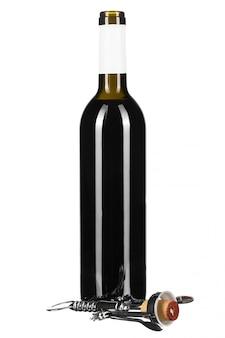Wijnfles geïsoleerd
