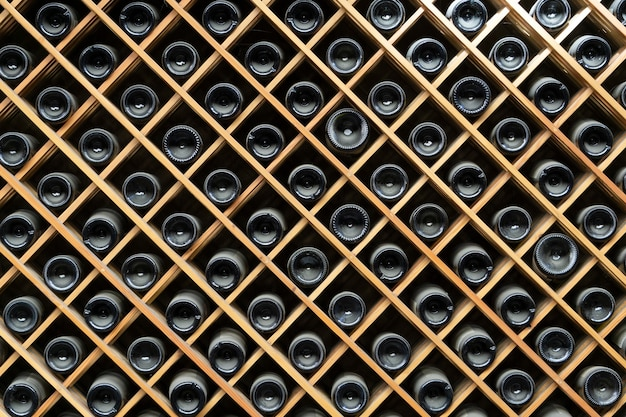 Wijnflessen kasten achtergrond