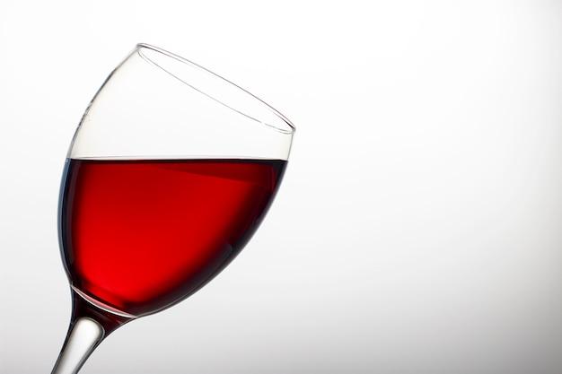 Wijnglas met rode wijn