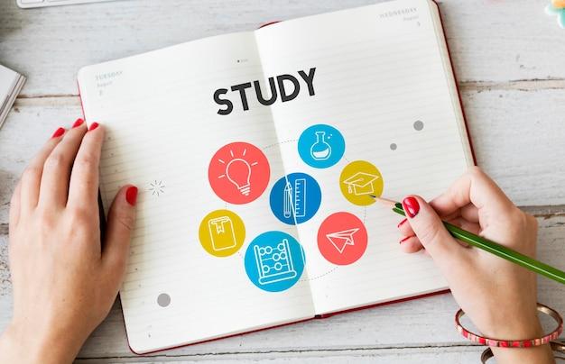 Wijsheid leren kennis klas studie concept