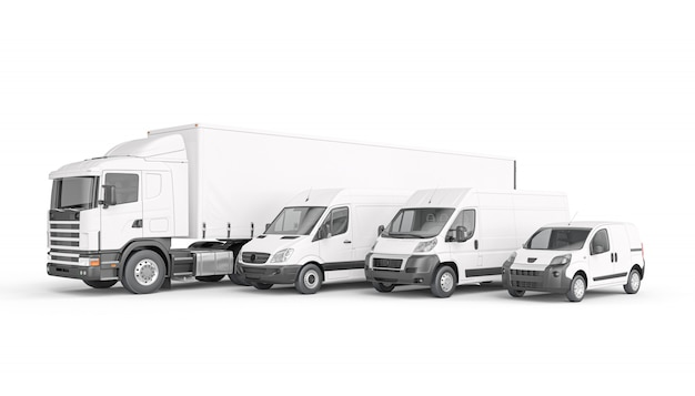 Wijze van transportgoederen witte kleur.