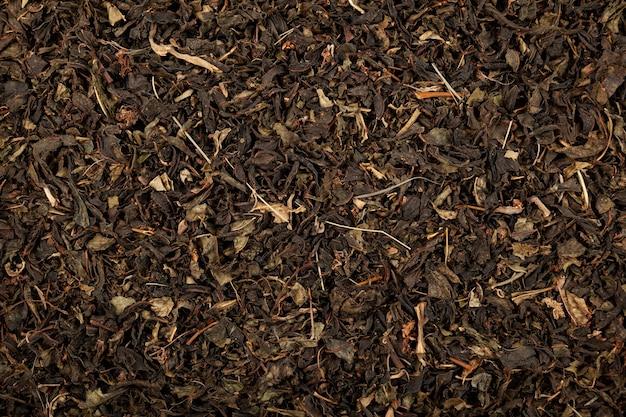 Wilgenroosje of ivan chai gedroogde bladeren close-up gezonde kruiden gefermenteerde thee natuurlijke antioxidant