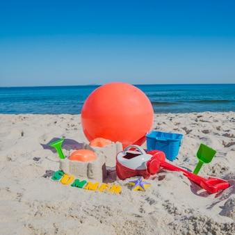 Windbal en zandbak speelgoed