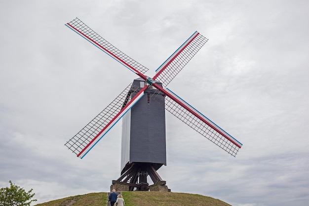 Windmolen in brugge, belgië