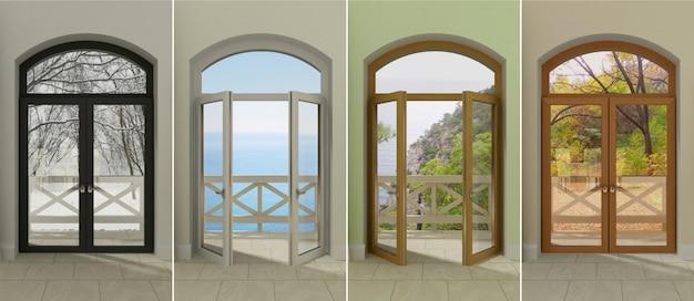 Windows op verschillende tijdstippen.