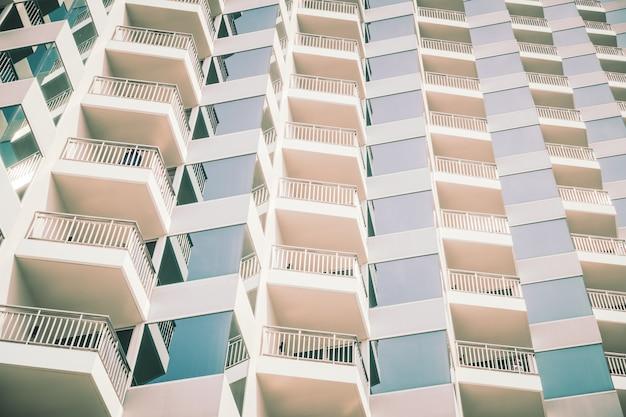 Windows-patroonstructuren buiten het gebouw