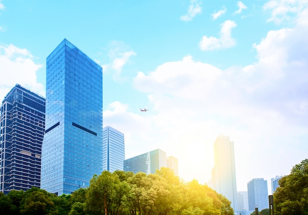 Windows van skyscraper business office