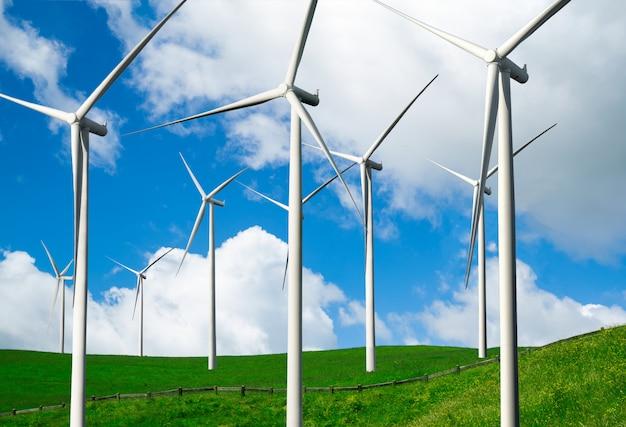 Windturbine boerderij.