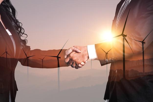 Windturbine dubbele belichting grafische interface