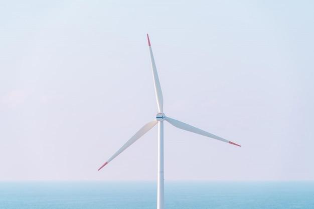 Windturbine elektrische generator voor hernieuwbare energie in sakata stad japan.