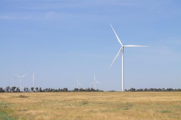 Windturbines landschap