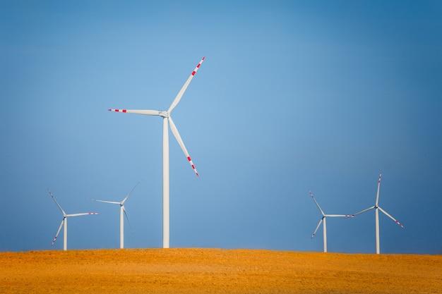 Windturbines op een veld