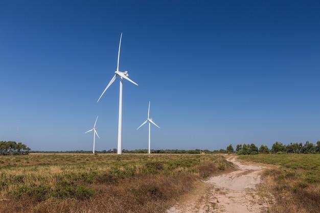 Windturbinesysteem, verzamelt energie.