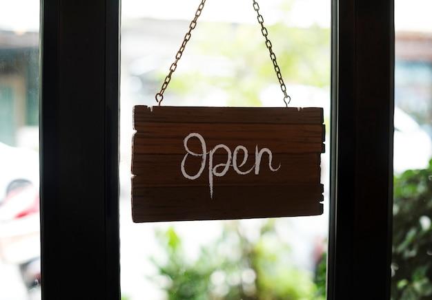 Winkel open houten bordmodel