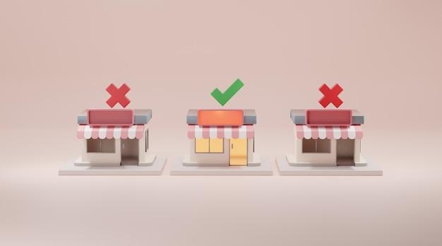 Winkel voor 3d-rendering.