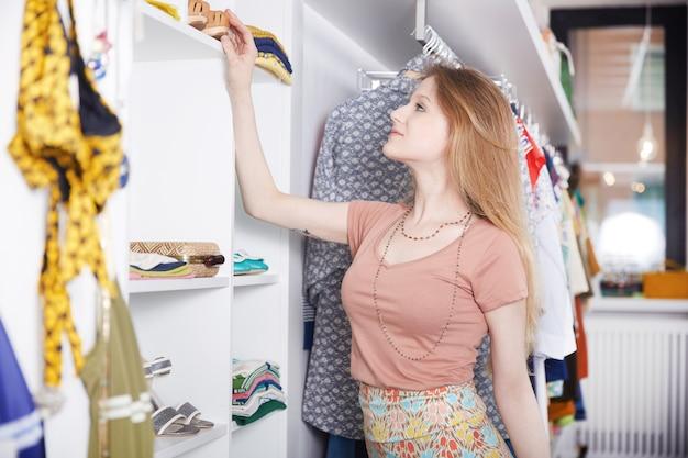 Winkelen bij mode winkel