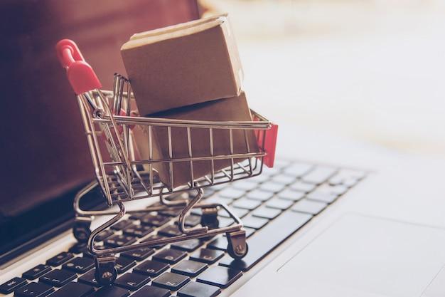 Winkelen op het online-web