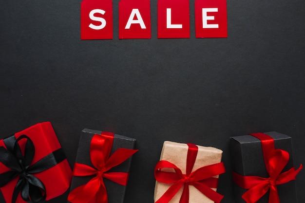 Winkelen verkoop zwarte vrijdag in plat lag