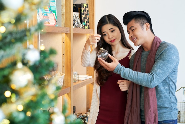 Winkelen voor kerstmis