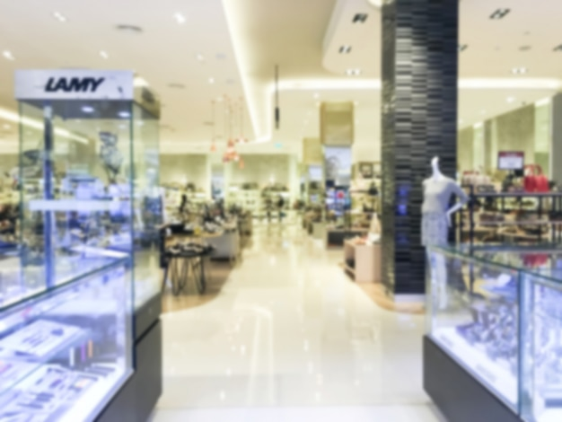 Winkels met glazen counters wazig
