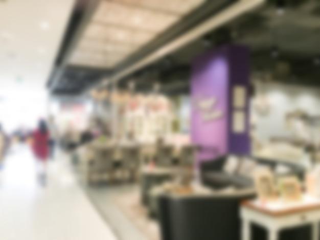 Winkels met hun counters wazig