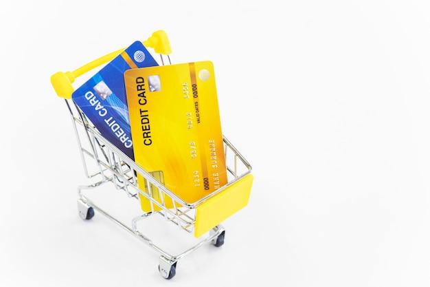 Winkelwagen en creditcard