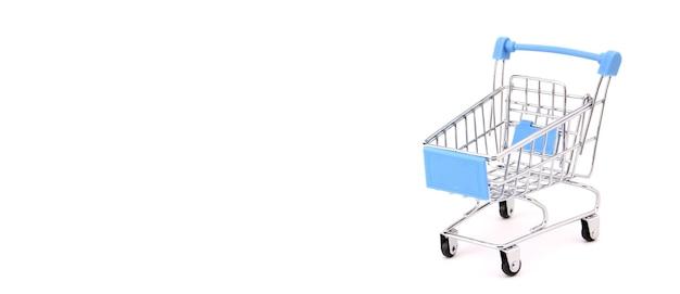 Winkelwagen geïsoleerd