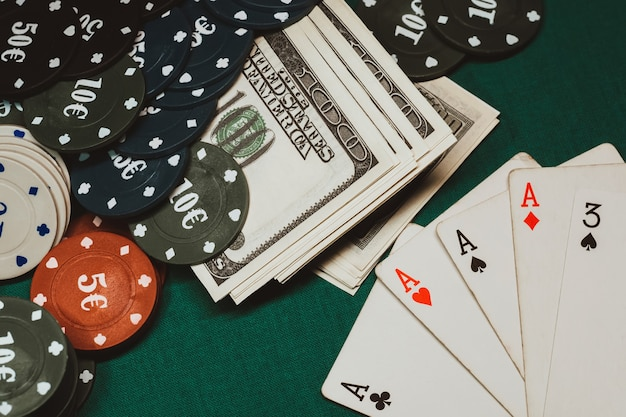 Winnende combinatie van kaarten in poker