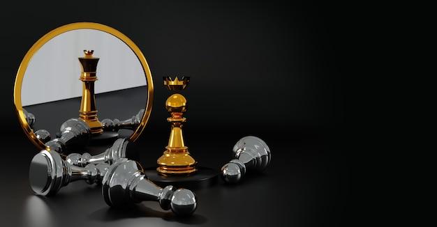Winnende schaken concept achtergrond