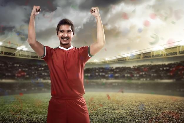Winnende voetballer