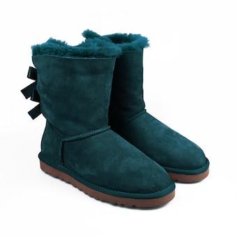 Winter blauwe schoenen