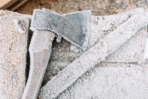 Winter cold frost tool klusjesman hoar concept