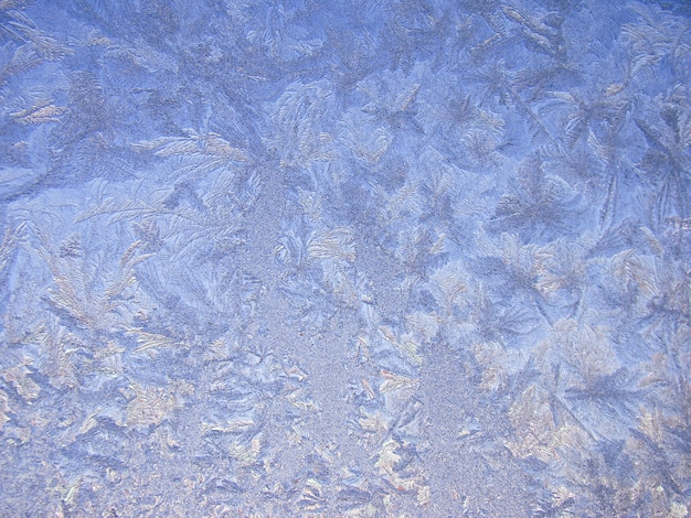 Winter frosted glass