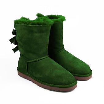 Winter groene schoenen