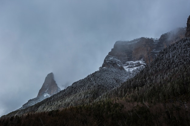 Winter in nationaal park, pyreneeën, spanje
