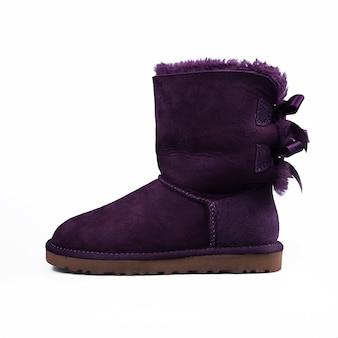 Winter paarse schoenen