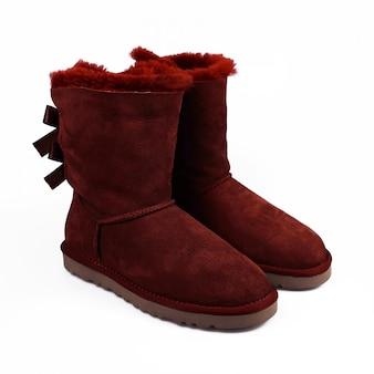Winter rode schoenen